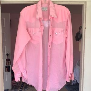 Tops - Vintage Sheer Western shirt H Bar C